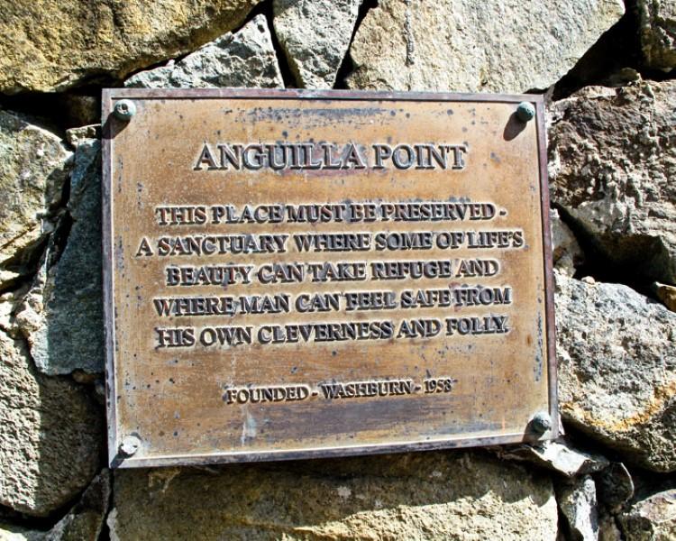 anguilla point plaque