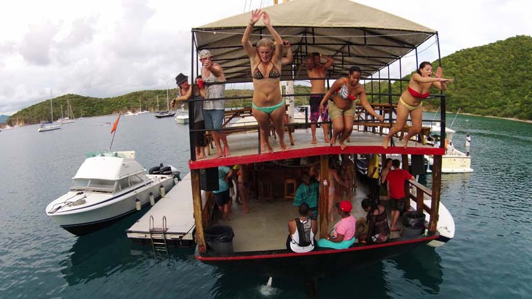 5 caribbean floating bars that will make you forget beach bars for How to build a beach bar